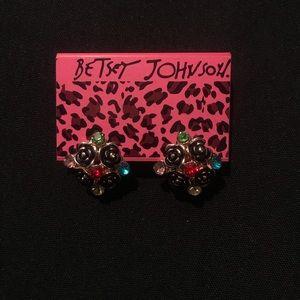 Betsy Johnson Floral Gem Earrings